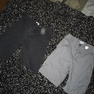 Grey and black old navy shorts